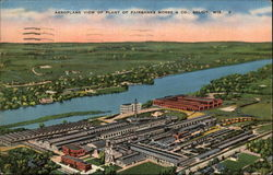 Aeroplane View of Plant of Fairbanks Morse & Co Postcard