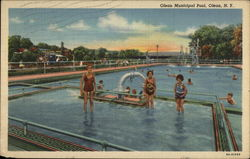 Olean Municipal Pool Postcard