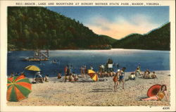 Beach, Lake and Mountain at Hungry Mother State Park