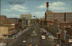 Broadway, Looking North in Fargo, North Dakota