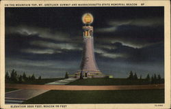 On the Mountain Top, Mt. Greylock Summit and Massachusetts State Memorial Beacon