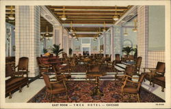 East Room - YMCA Hotel Postcard