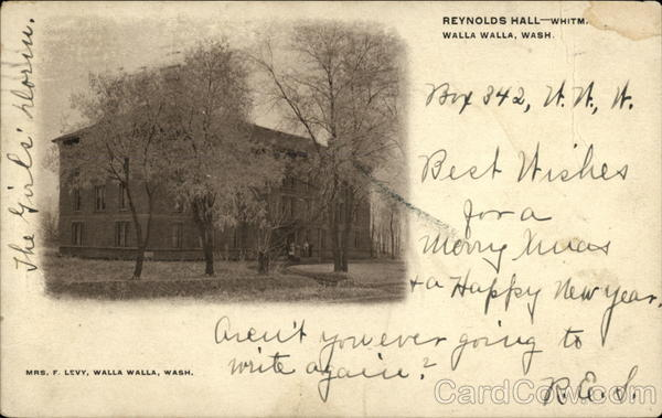 Reynolds Hall - Whitm Walla Walla Washington