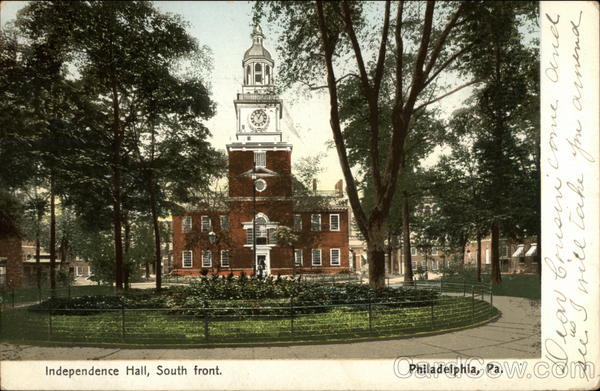 Independence Hall, South front Philadelphia Pennsylvania