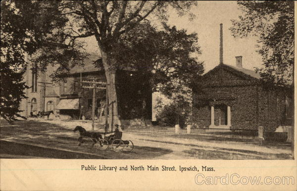 Public Library and North Main Street Ipswich Massachusetts