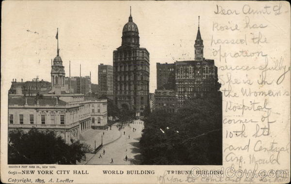 New York City Hall, World Building, Tribune Building