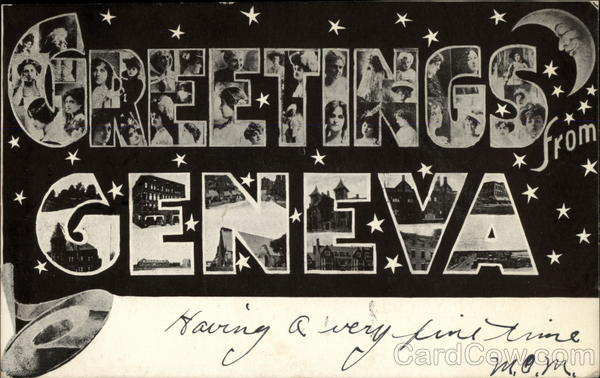 Greetings from Geneva New York Large Letter