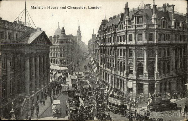 Mansion House and Cheapside London England