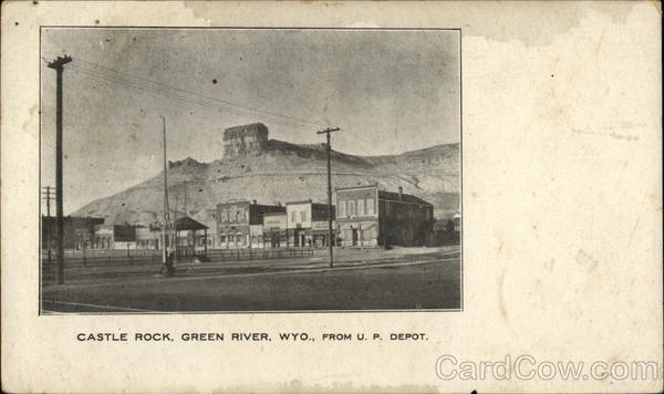 Castle Rock, From U.P. Depot Green river Wyoming