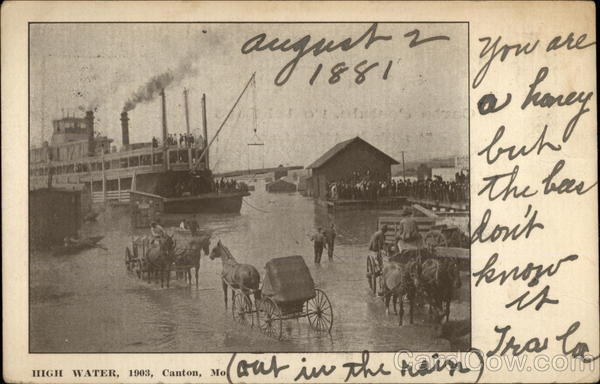 High Water, 1903 Canton Missouri