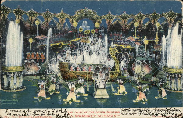 The Court of the Golden Fountains, A Society Circus New York City