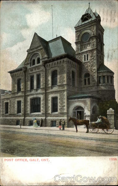 Post Office Galt Canada Ontario