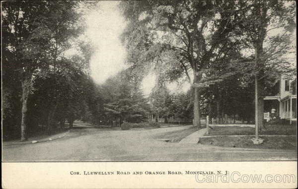 Cor. Llewellyn Road and Orange Road Montclair New Jersey