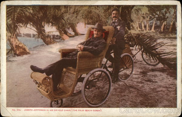 Joseph Jefferson in His Bicycle Chair (The Palm Beach Coach)