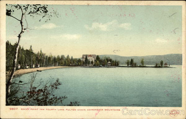Rocky Point Inn, Fourth Lake, Fulton Chain Adirondack Mountains New York