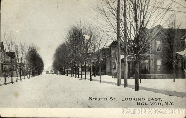 South St. Looking East Bolivar New York