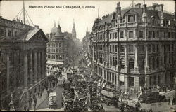 Mansion House and Cheapside Postcard