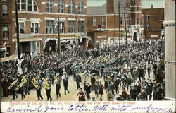 Departure of Co. B, 1st Inf., Vt. Vols, During the War with Spain in 1898