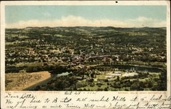 Bird's Eye View of Brattleboro, from the East