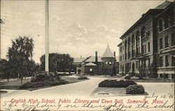 English High School, Public Library and Town Hall
