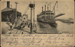 Steamer Quincy Entering Lower Lock, US Government Canal