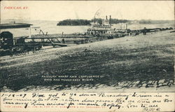Paducah Wharf and Confluence of Ohio and Tennessee Rivers