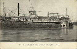 Steamboat loaded with Cotton and Cotton Seed leaven Shreveport