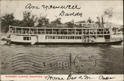 Steamer Illinois Postcard
