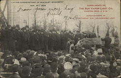 Laying Cornerstone of McKinley Monument Nov. 16th 1905