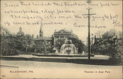 Fountain in East Park Postcard