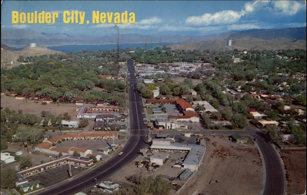Aerial View Of Town Boulder City Nv