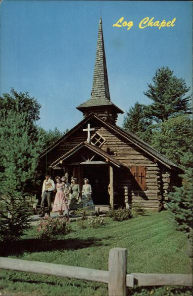 log chapel  frontier town schroon lake  ny