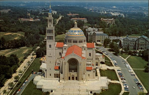 Aerial View of the National Shrine of the Immaculate Conception Washington District of Columbia