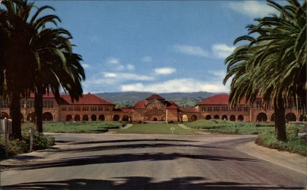Quadrangle from Palm Drive, Stanford University California