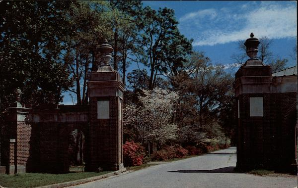 Entrance to Spring Hill College Mobile Alabama
