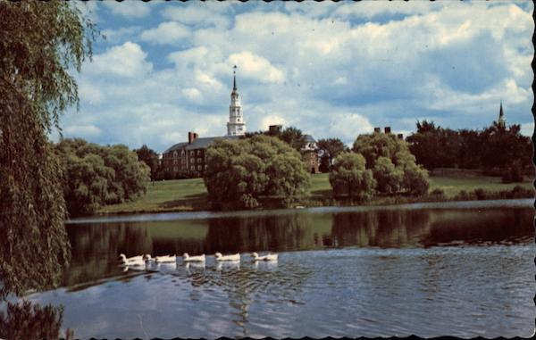 Across Johnston Pond of Colby College Waterville Maine