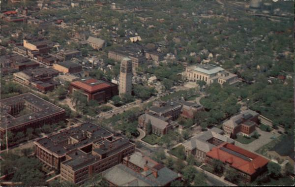 University of Michigan: Aerial View of the Mall Ann Arbor