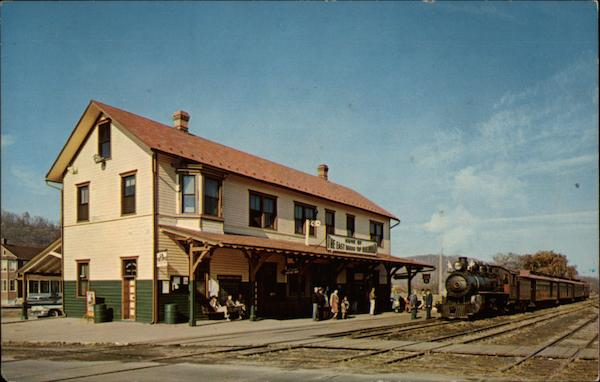 Train arriving at Railroad Station Rockhill Furnace Pennsylvania
