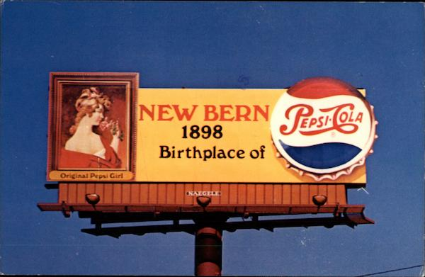 Birthplace of Pepsi Cola in 1898 Advertising