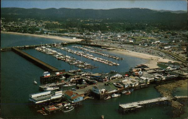 Aerial View of Fisherman's Wharf and Monterey Marina California