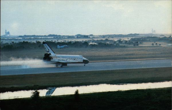 Landing of Space Shuttle Challenger Kennedy Space Center Florida
