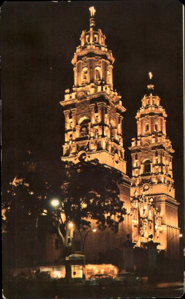 Cathedral, Night View Morelia Mexico