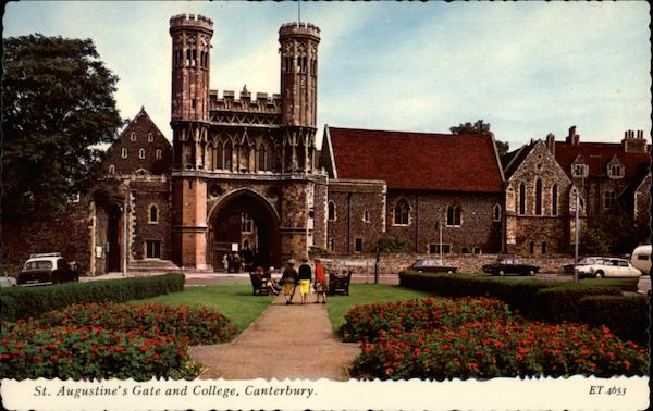 St. Augustine's Gate and College Canterbury England