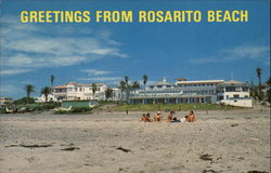 Greetings From Rosarito Beach Postcard