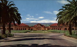 Quadrangle from Palm Drive, Stanford University