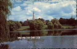 Across Johnston Pond of Colby College