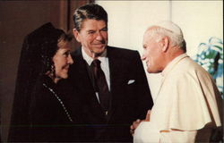 The President and Nancy Reagan Meet With Pope John II in the Vatican