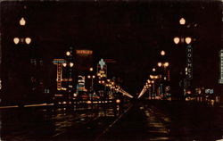 Canal Street at Night Postcard