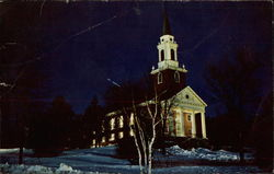Colby College Chapel By Moonlight