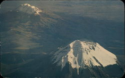 Beautiful Air View of Volcanoes Postcard